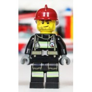 Fire - Reflective Stripes with Utility Belt, Dark Red Fire Helmet