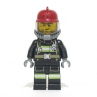 LEGO Fireman - Reflective Stripes with Utility Belt with Gear