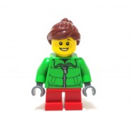 LEGO City Minifigures - Winter Jacket Zipper Reddish Brown Ponytail Girl Little GiGi