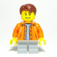 LEGO City Minifigures - Orange Jacket with Hood Child