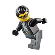 LEGO City Minifigures - Police - City Bandit Male, Black Hair, Mask