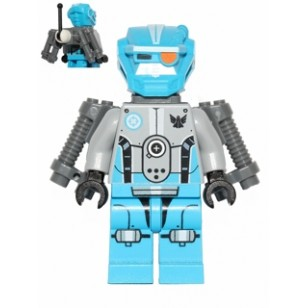 LEGO Galaxy Squad Minifigure - Dark Azure Robot Sidekick with Jet Pack