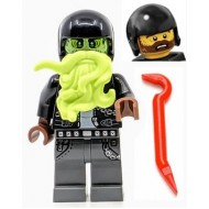 LEGO Hidden Side Minifigures - Dwayne with Ghost Head and weapon