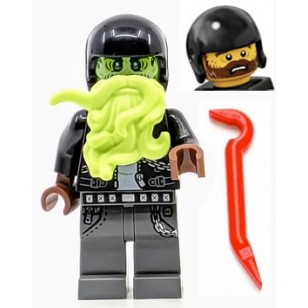 LEGO Hidden Side Minifigures - Dwayne with Ghost Head and weapon (Halloween)