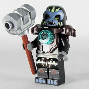 LEGO Legends of Chima Minifigures - Gorzan (Armor) with weapons