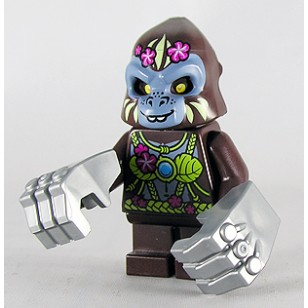 LEGO Legends of Chima Minifigures - G'Loona with weapons