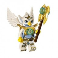 LEGO Legends of Chima Minifigures - Eris (Heavy Armor) with weapons