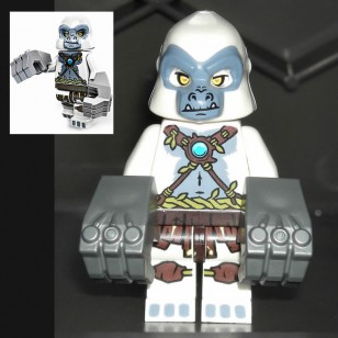 LEGO Legends of Chima Minifigures - Grizzam with IRON FIST weapons