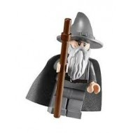 LEGO Hobbit and Lord of the Rings Minifigures - Gandalf the Grey - Wizard / Witch Hat with weapon
