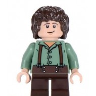 LEGO Hobbit and Lord of the Rings Minifigures - Frodo Baggins - Sand Green Shirt