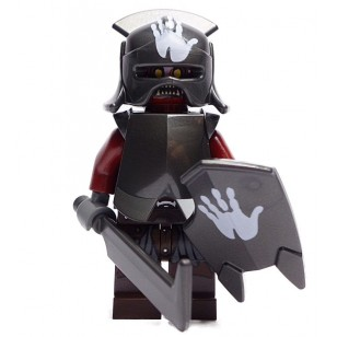 LEGO Hobbit and Lord of the Rings Minifigures - Uruk-hai - Handprint Helmet with Sword and Shield