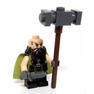 LEGO The Hobbit Minifigures - Dwalin the Dwarf w. weapons