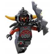LEGO Nexo Knight Minifigures - Ash Attacker - Orange Horns - with Sword