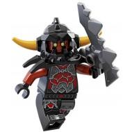 LEGO Nexo Knight Minifigures - Ash Attacker - Orange Horns - with Sword