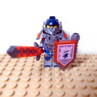 LEGO Nexo Knight Minifigures - Clay - with Sword and Sheild Sword Logo