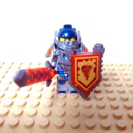 LEGO Nexo Knight Minifigures - Clay - with Sword and Sheild Fire Logo