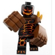 LEGO Nexo Knight Minifigures - Moltor With two Reddish Brown Hand Gorilla Fist (part 11092).