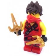 LEGO Ninjago Minifigures - Kai - Sleeveless with weapon