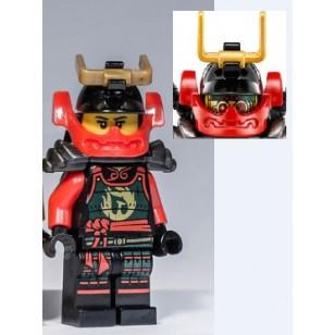 LEGO Ninjago Minifigures - Nya - Head Mask, Pearl Dark Gray Armor w. weapons