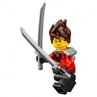 The LEGO Ninjago Movie - Kai - Hair, Flat Silver Katana Holder, The LEGO Ninjago Movie (70617) with weapon