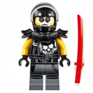LEGO Ninjago Minifigures - Chopper Maroon (Helmet and Shoulder Pads) with double swords