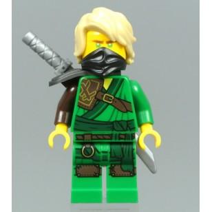 LEGO Ninjago Minifigures - Lloyd  (Secrets of the Forbidden Spinjitzu), Hair w. weapon