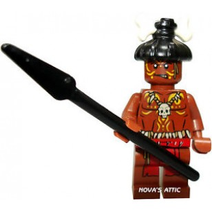 LEGO Pirates of the Caribbean Minifigures - Cannibal with a dark brown spear