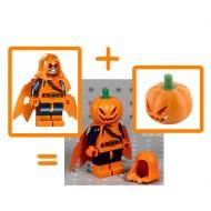 LEGO Super Heroes Minifigures - Hobgoblin (76058) with pumpkin headgear (Halloween)