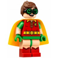 LEGO Super Heroes Minifigures - Robin - Green Glasses, Smile / Scared Pattern