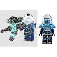 LEGO Super Heroes Minifigures - Mr. Freeze - Shoulder Ice Armor with Huge Weapon