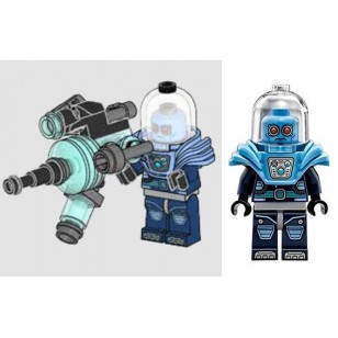 LEGO Super Heroes Minifigures - Mr. Freeze - Shoulder Ice Armor with Huge Weapon