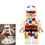 LEGO Super Heroes Minifigures - Polka-Dot Man (70917) with weapon and stand