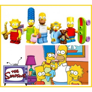 LEGO Simpsons Series - The Simpsons Family Minifigures SET