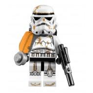 LEGO Star Wars Minifigures - Stormtrooper (Tatooine) with Orange Pauldron, Sandtrooper
