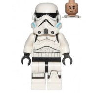 LEGO Star Wars Minifigures - Stormtrooper (Printed Legs, Dark Azure Helmet Vents, Frown)