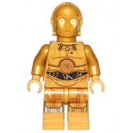 LEGO Star Wars Minifigures - C-3PO - Colorful Wires, Decorated Legs