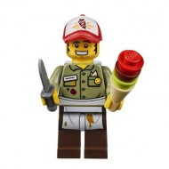 LEGO The LEGO Movie Minifigures - Kebab Bob with food and knife