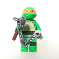 LEGO Teenage Mutant Ninja Turtles Minifigures - Mikey with weapon