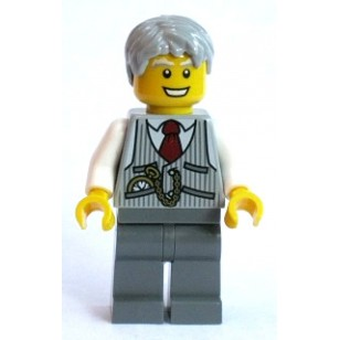 LEGO City Minifigures - Grandpa, Pinstriped Vest and Pocket Watch (10247)