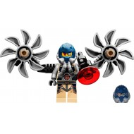 LEGO Ultra Agents Minifigures - Psyclone with Parachute Backpack & Gun