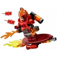 LEGO Ultra Agents Minifigures - Infearno with flying surf board & bombs