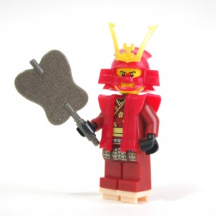 Red Heroic Samurai
