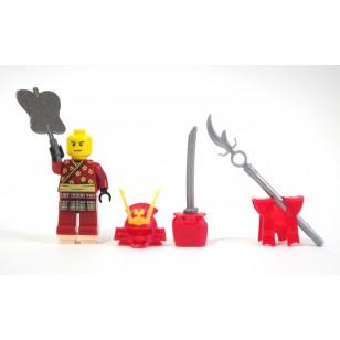 Red Heroic Samurai