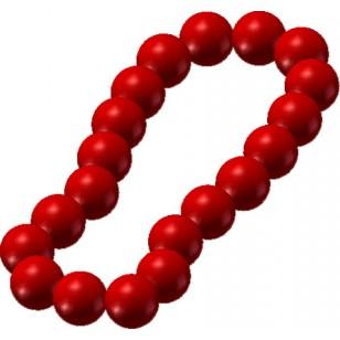 Minifigcat Prayer Beads - DARK RED