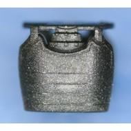 Minifigcat Dou (Samurai Vest ) - A - Metallic Speckle Silver