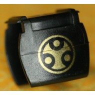 Minifigcat Dou (Samurai Vest ) - B - Black -(Printed parts-DP03)