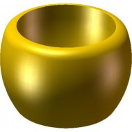 Minifigcat Monk's Bowl - Pearl Light Gold