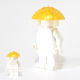 Minifigcat Monk's Hat- Pearl Gold with White Hood Kasanuno