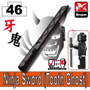 Ninja Sword (Tooth Ghost) - Pearl Dark Black