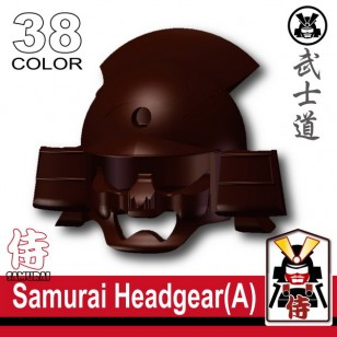Minifigcat Samurai Headgear (A) - DARK BROWN